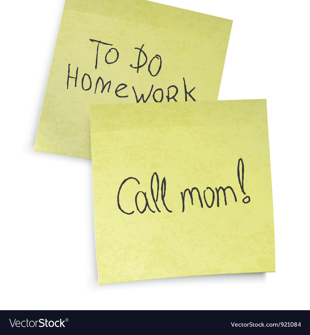 Call mom reminder vector