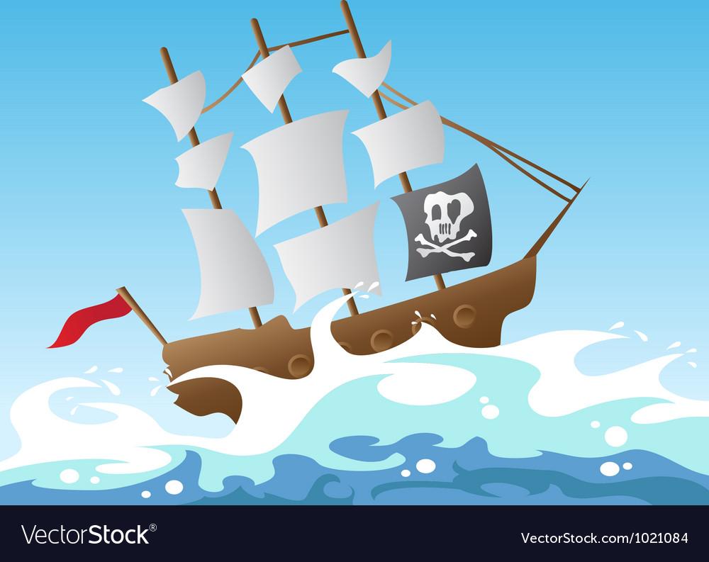 Pirate ship vector