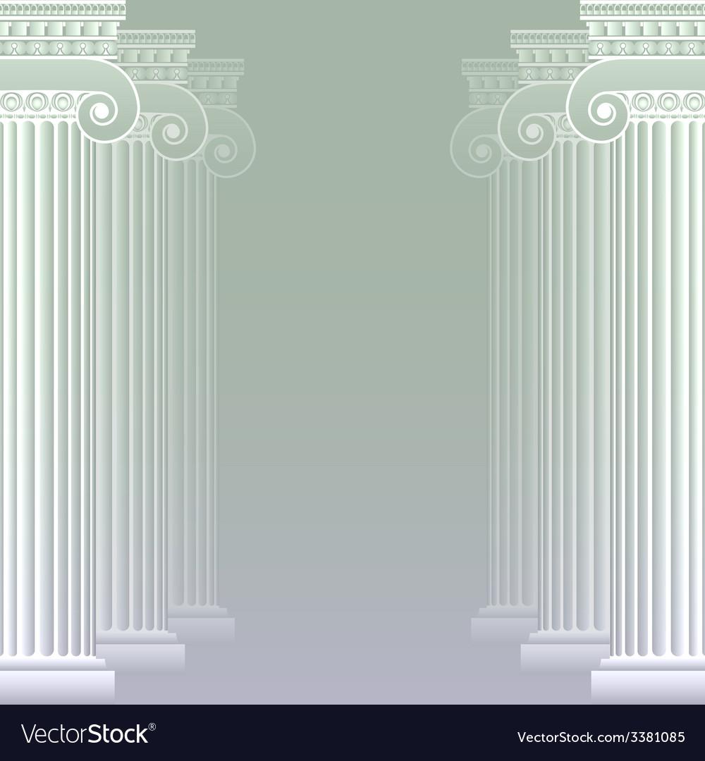Classical greek or roman columns vector