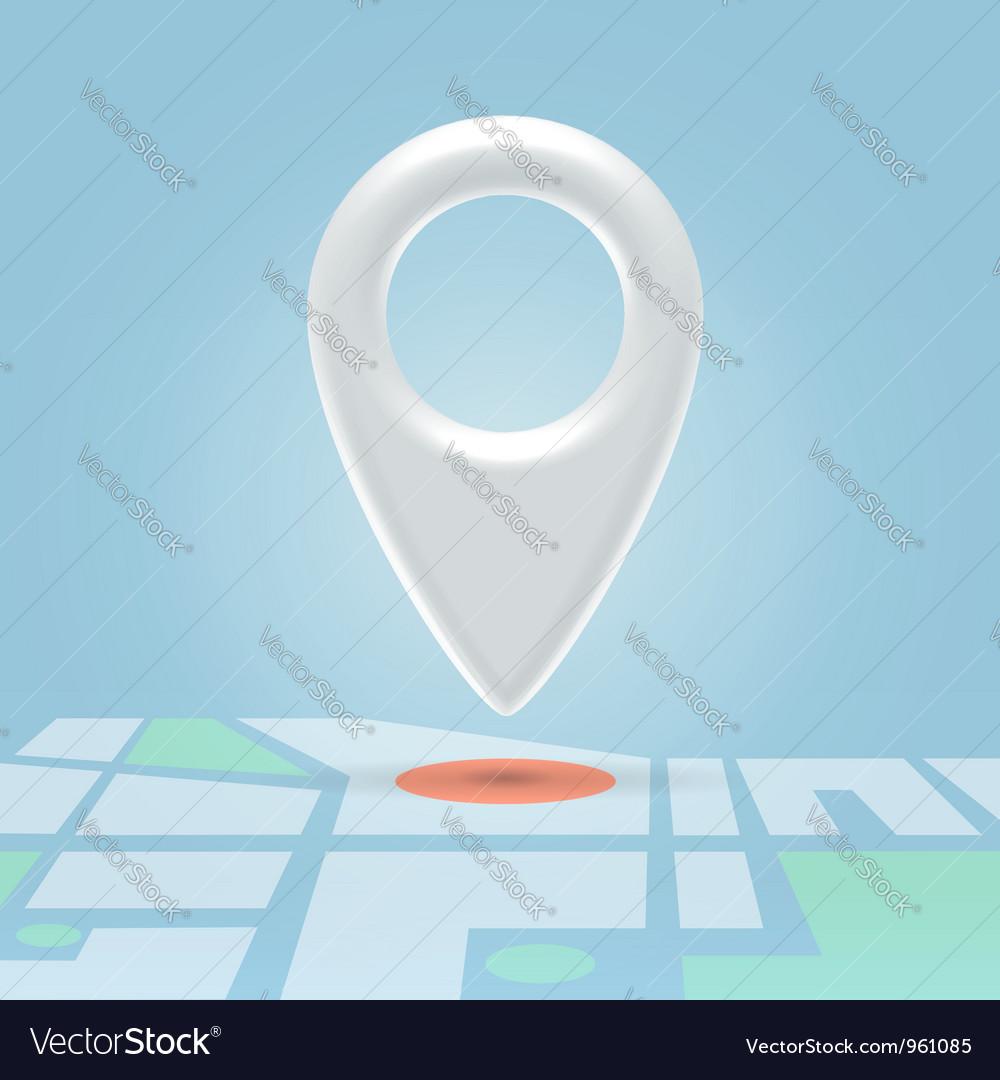 Plastic map pin over spot vector