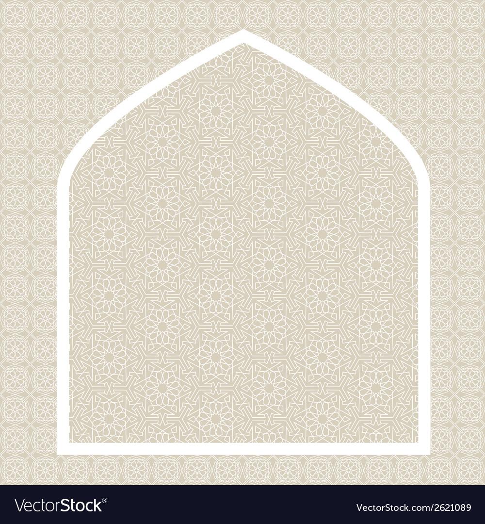 Islamic card vector