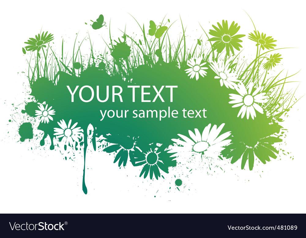 Spring floral banner vector