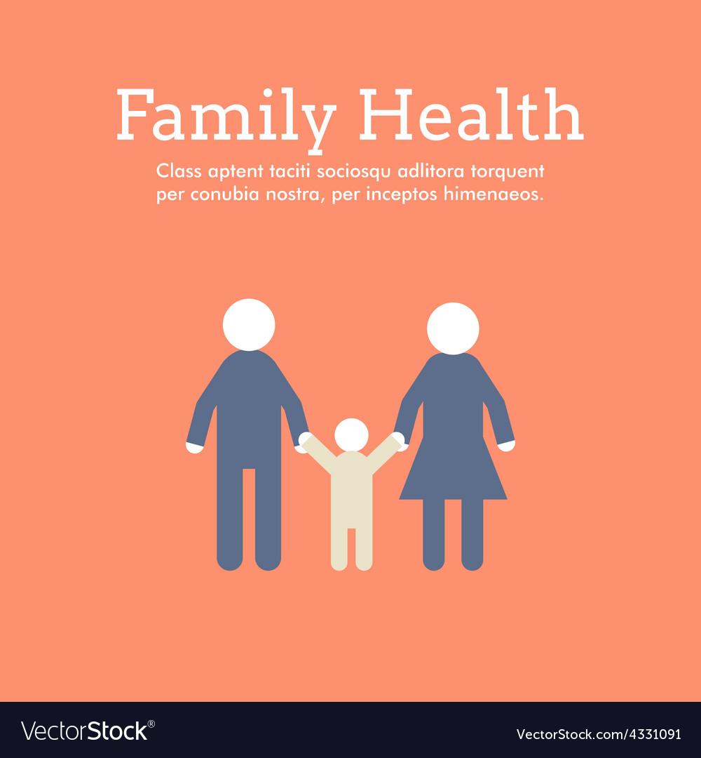 World health day celebrating card or poster design vector