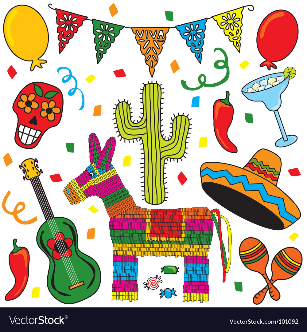 Mexican fiesta party vector