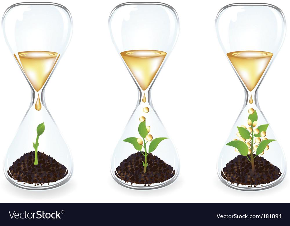 Glass clocks vector