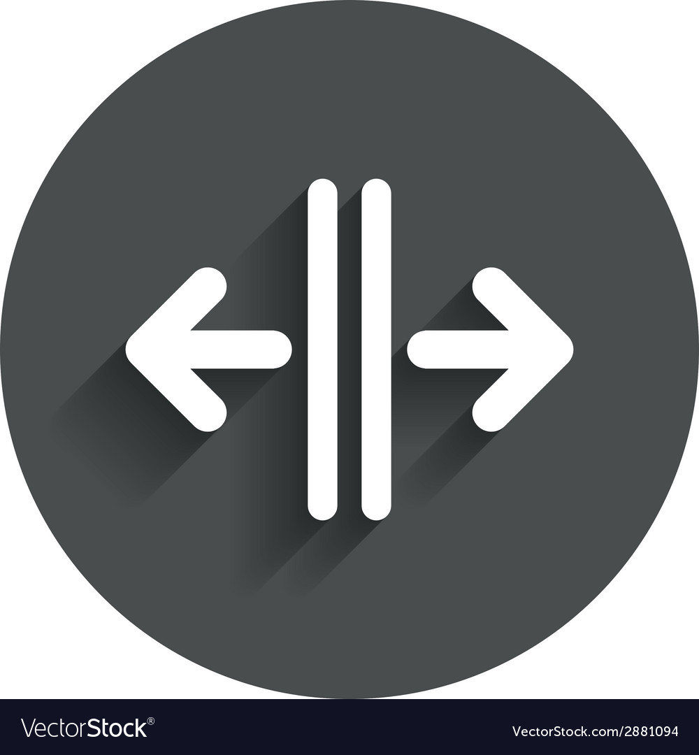 Open the door sign icon control in the elevator vector