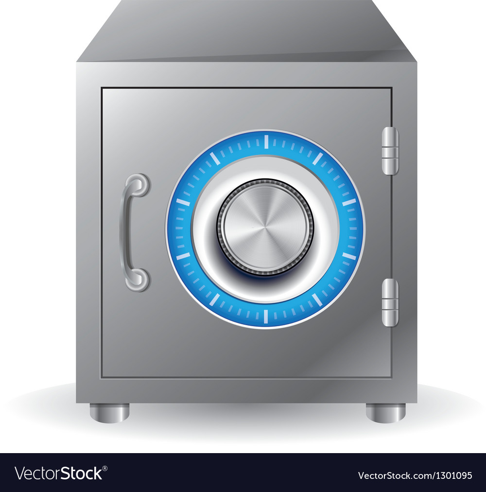 Bank safe concept vector
