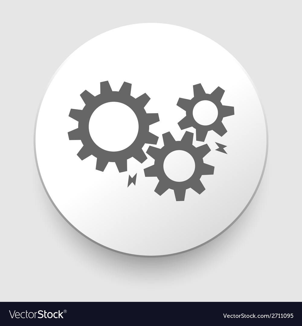 Black cogs - gears on light background vector