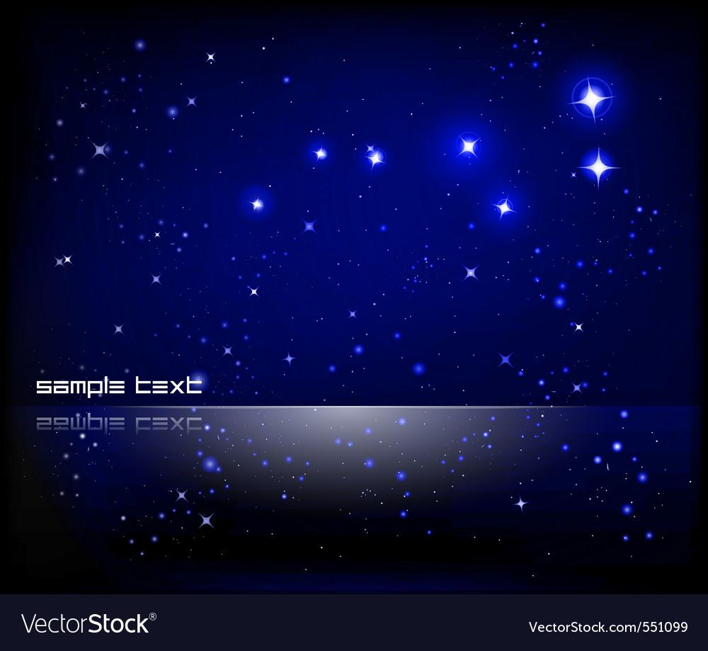 Starry night sky vector