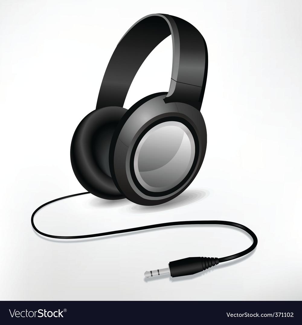 Headphones illustration vector