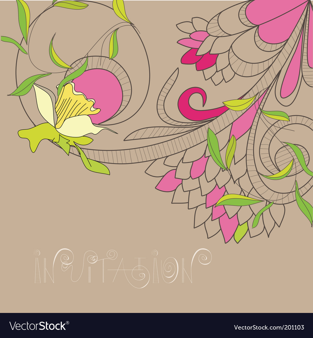 Floral daffodil background vector