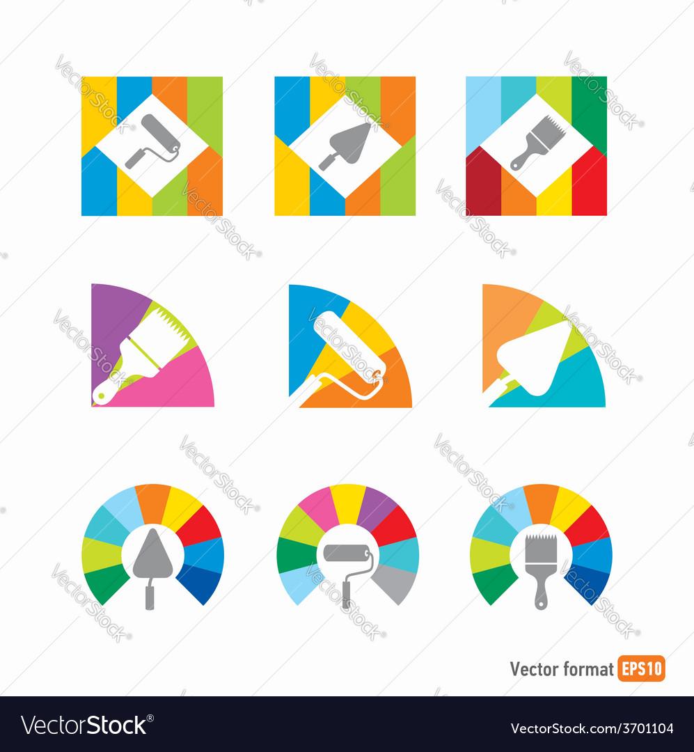 Icon colored instrument vector