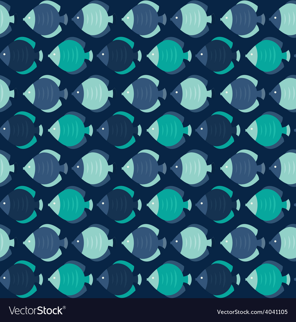 Colorful fish pattern vector