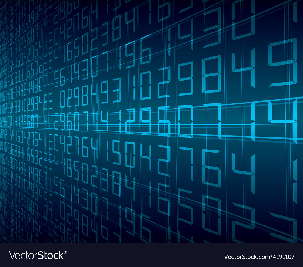 Digital background vector
