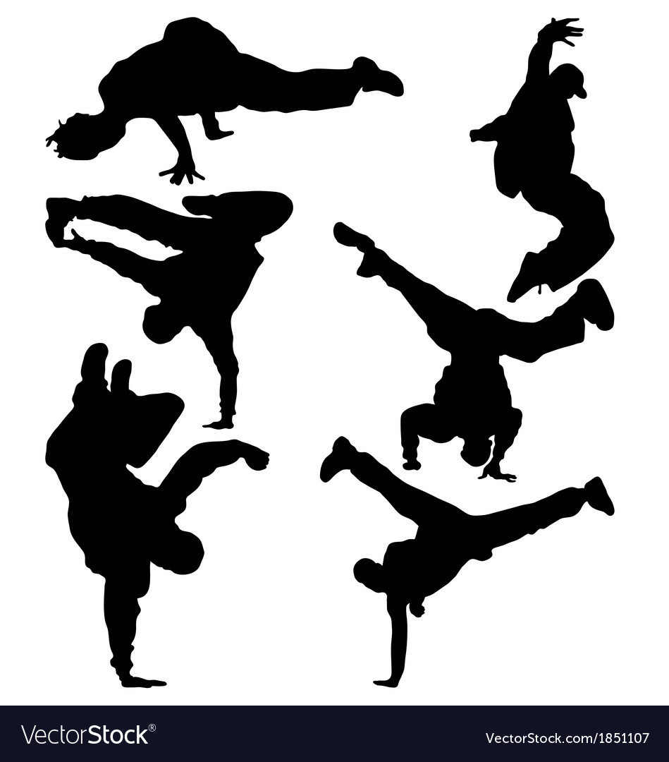 Hip hop dancer vector