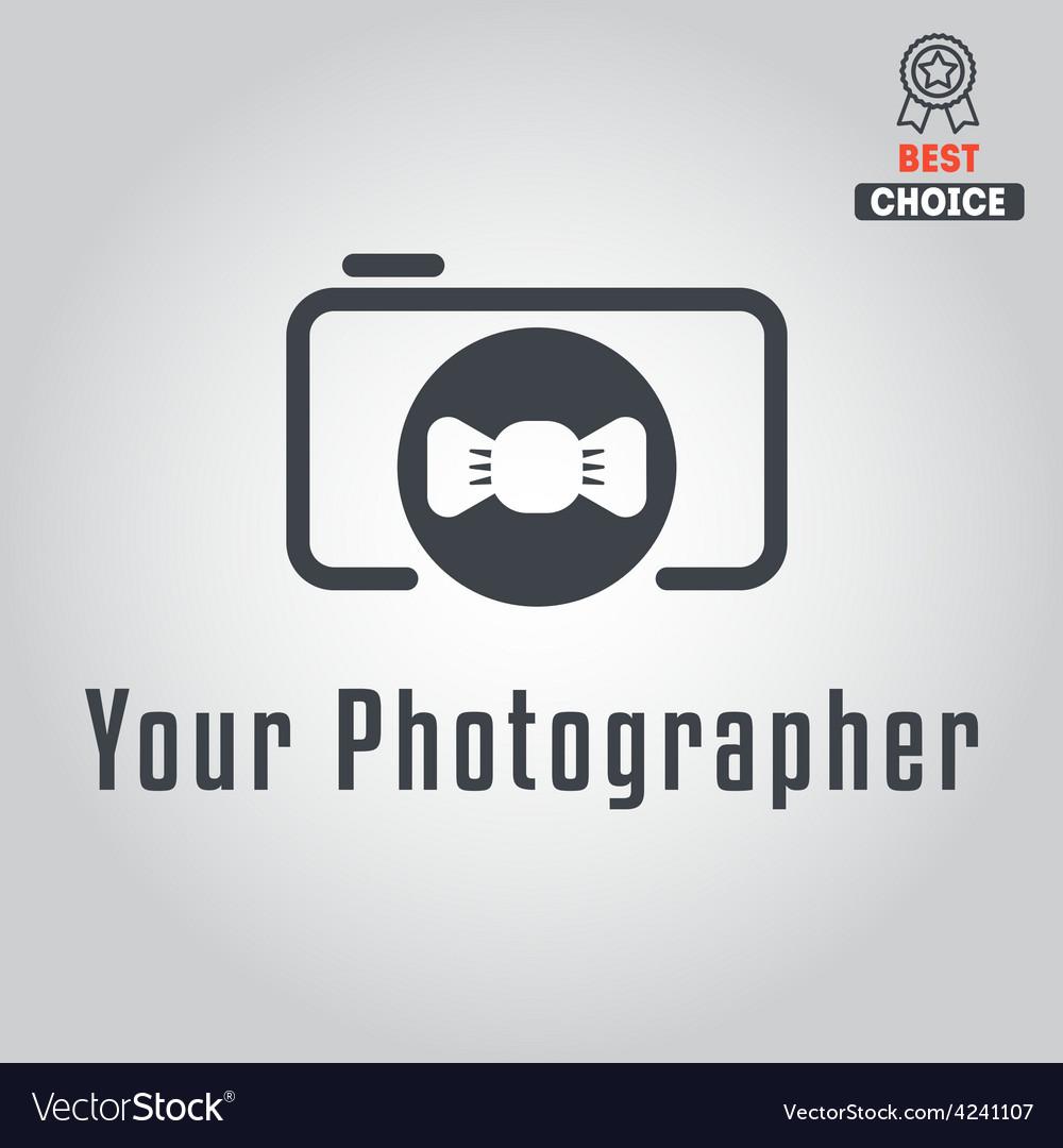 Logo badge emblem or label for photograph vector