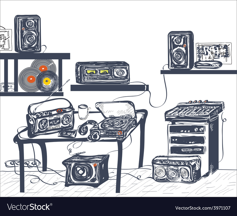 Musical equipment vector