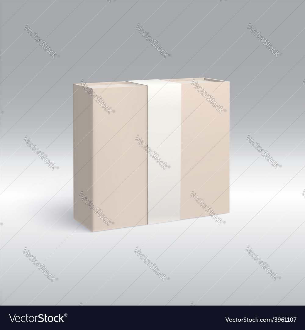 Vertical box with ribbon vector