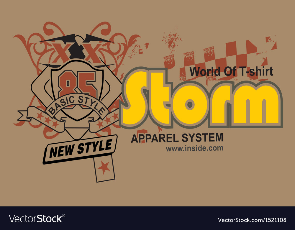 Art design with model of strong world vector