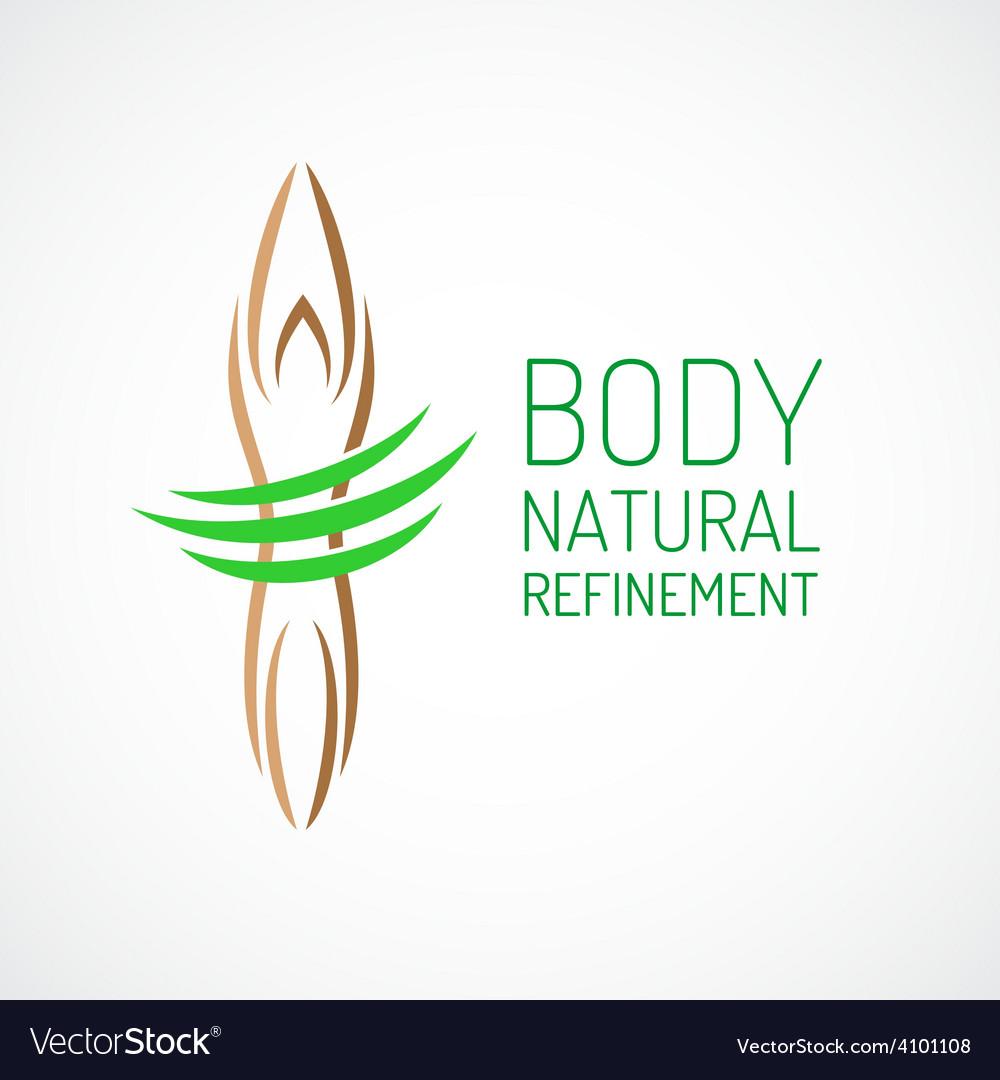 Body care logo template vector
