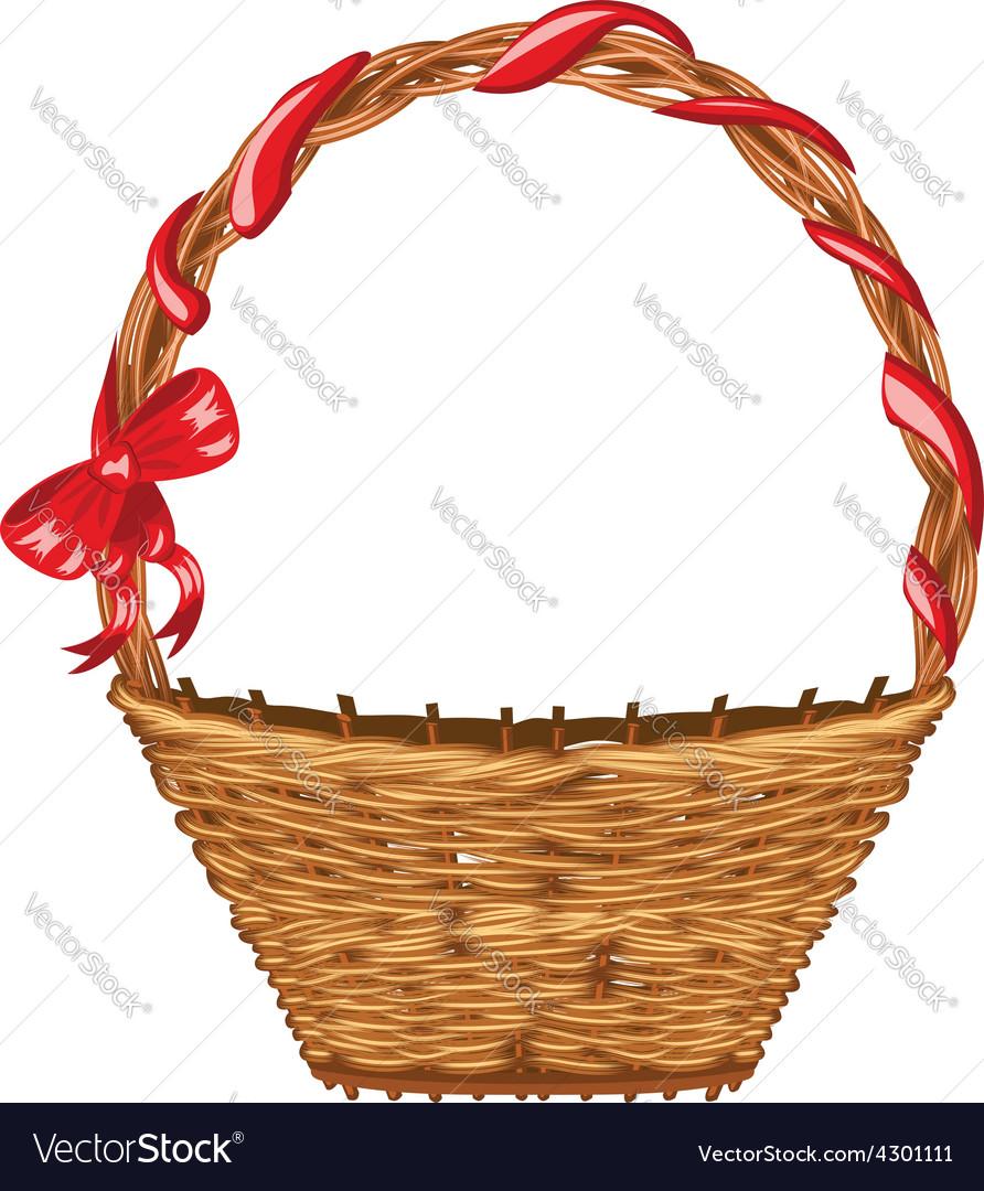 Wicker basket2 vector