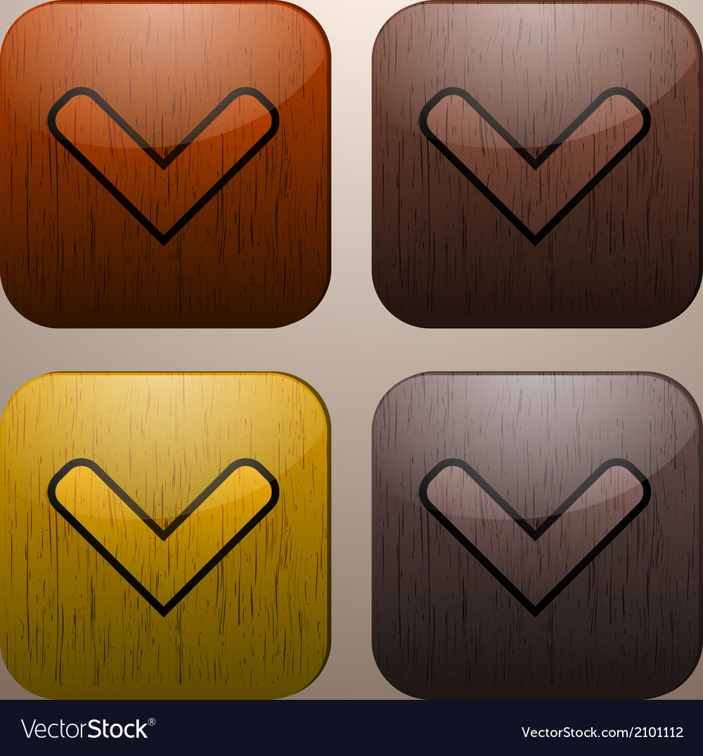 Wooden check marks vector