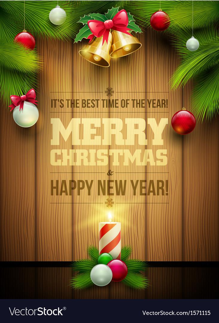 Christmas message board vector