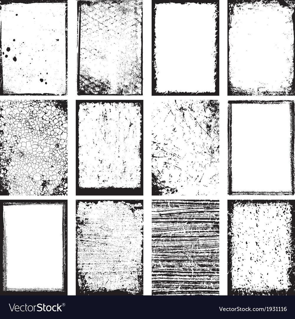 Grunge backgrounds and frames vector