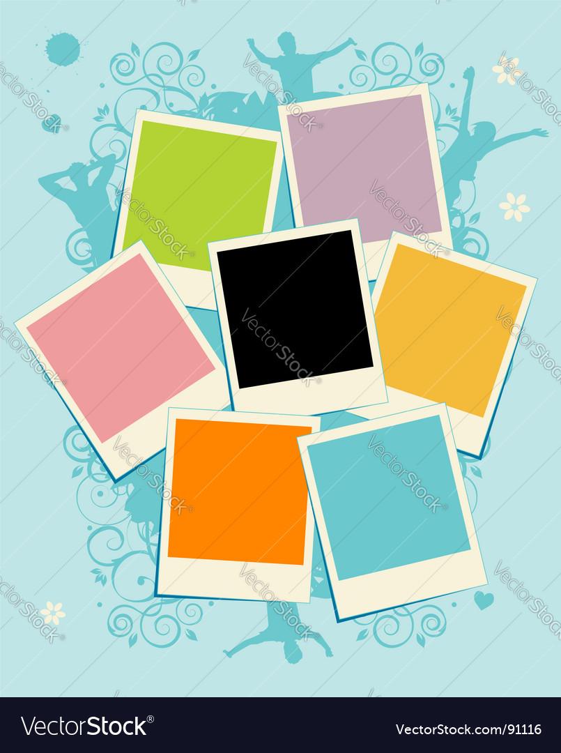 Polaroid frame vector