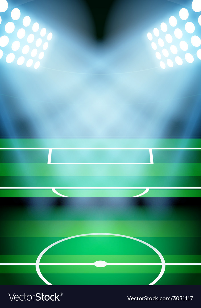 Background for posters night football soccer vector