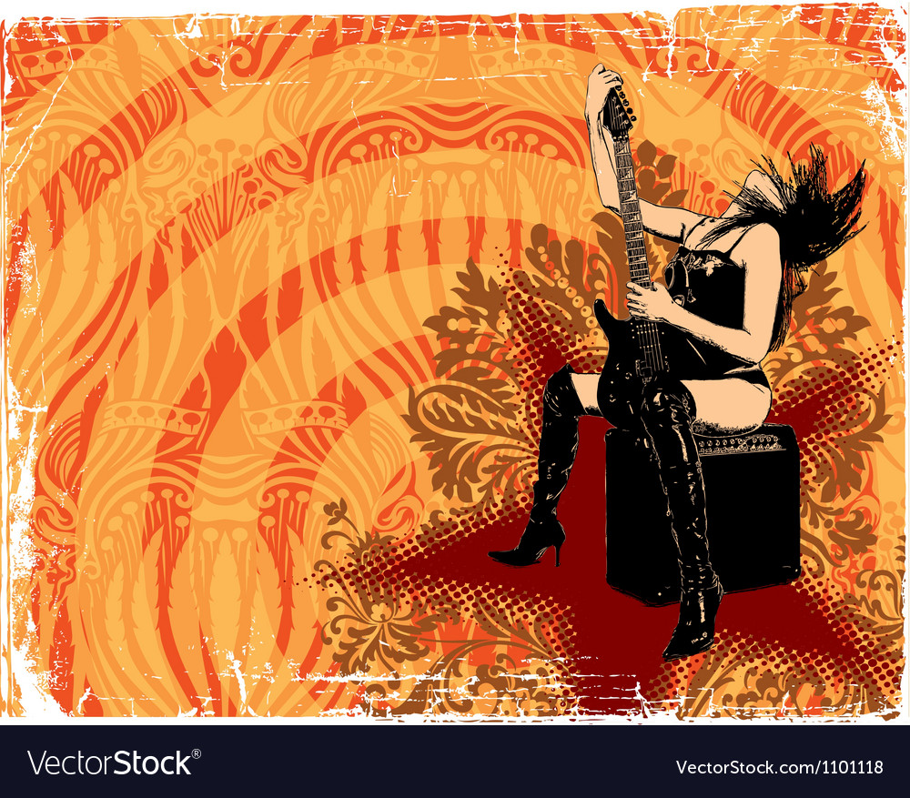 Abstract rock music background vector