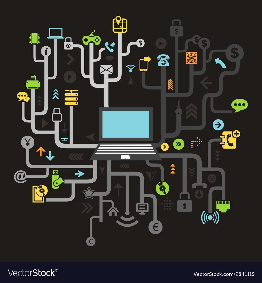Internet vector