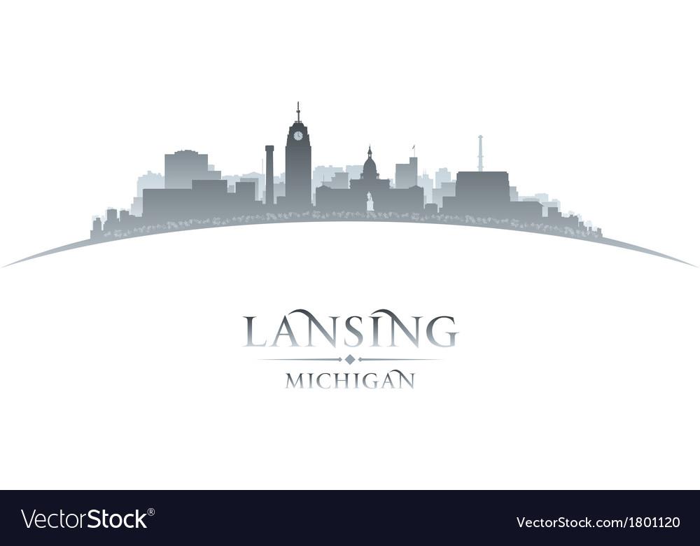 Lansing michigan city skyline silhouette vector