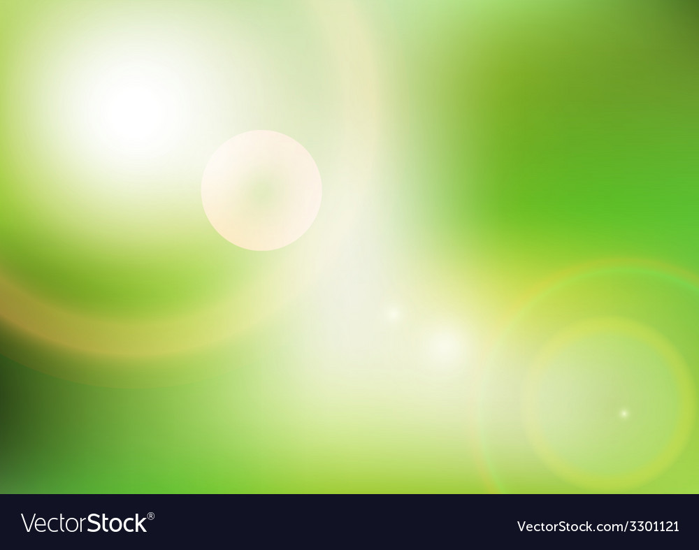 Eco background with sunlight vector