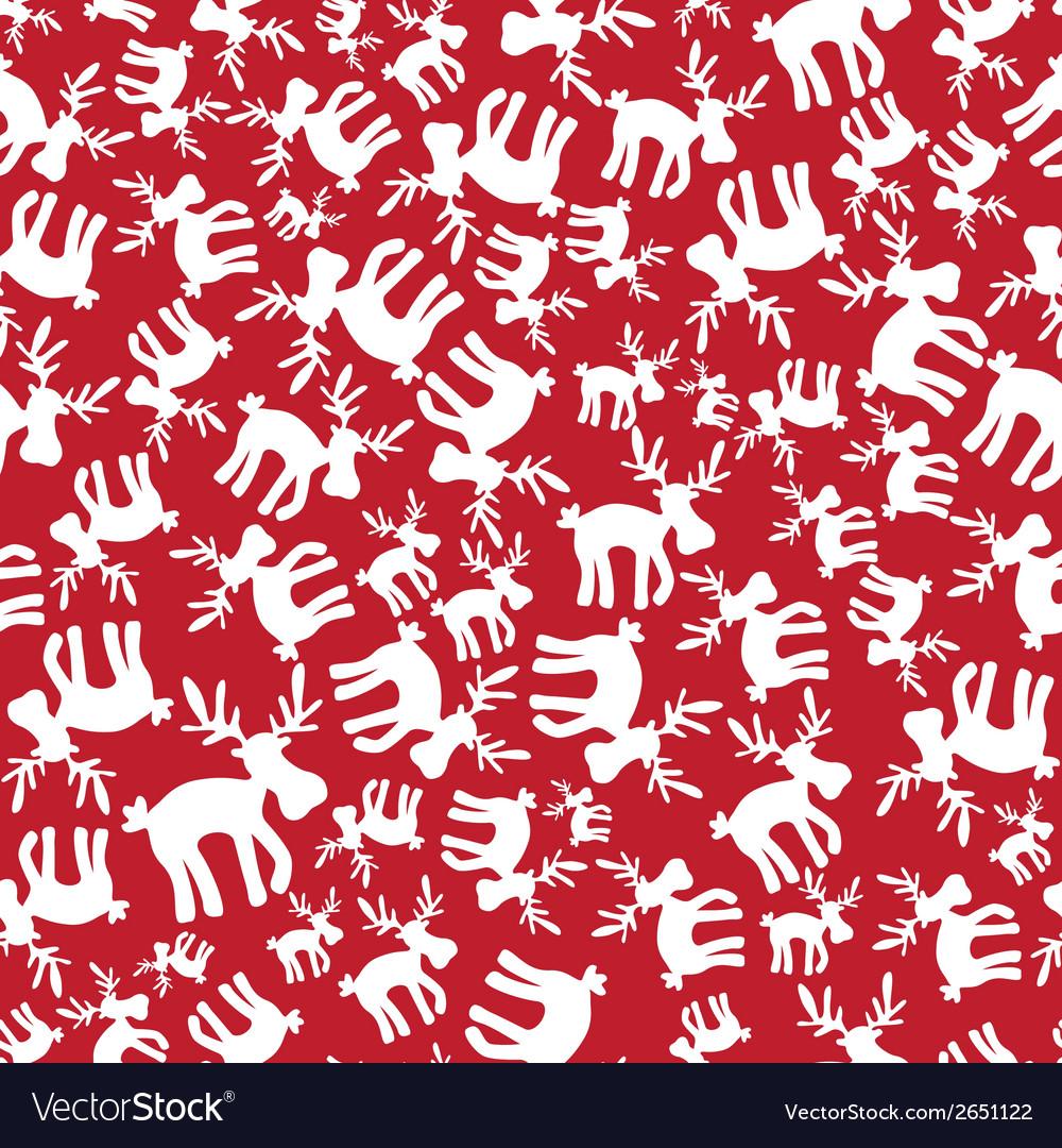 Christmas reindeer red pattern eps10 vector