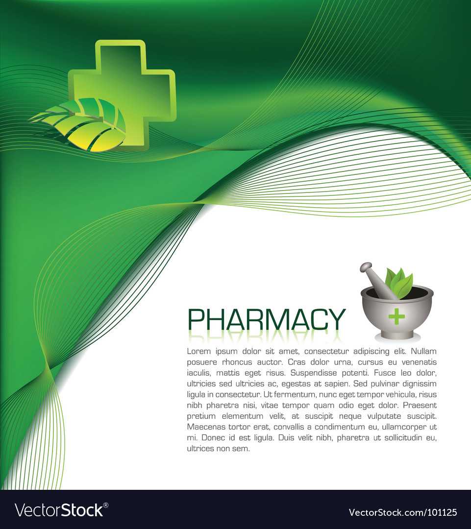 Pharmacy brochure vector