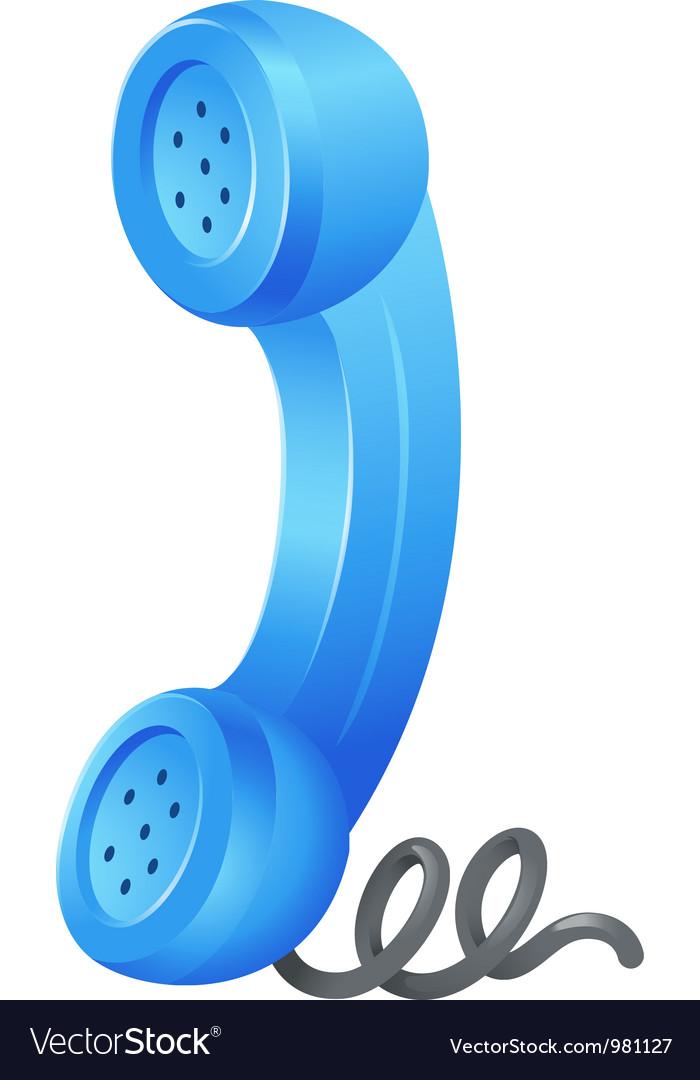 Telephone receiver vector