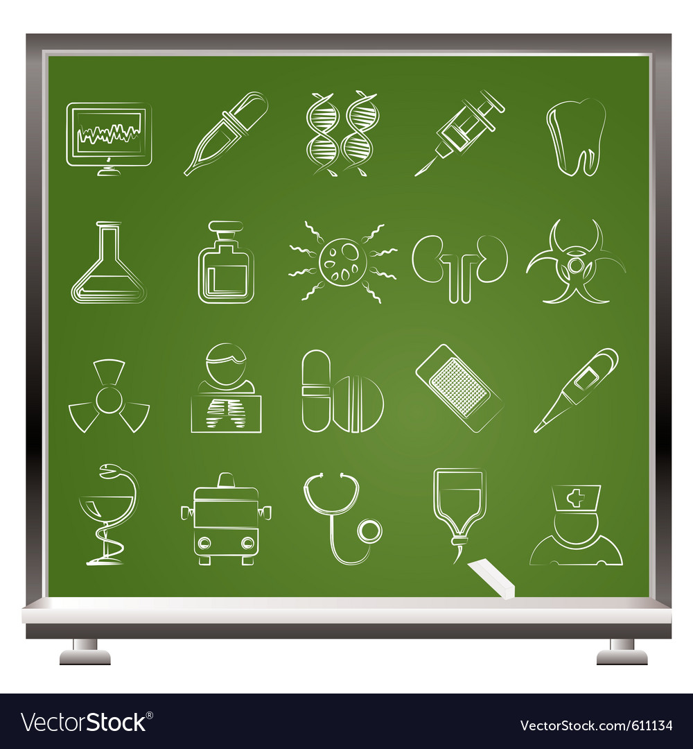 Medicine and hospital icons vector