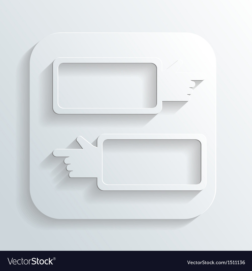 Direction signs icon vector