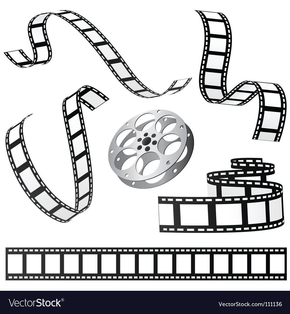 Film and roll vector