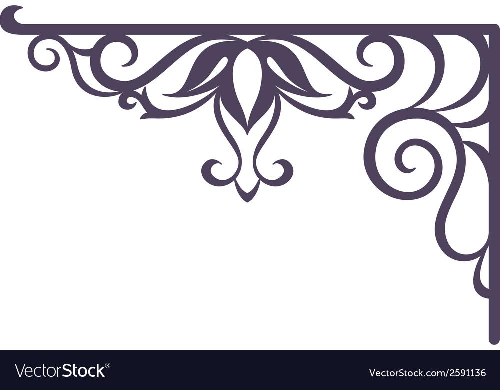 Vintage bracket for signboard silhouette vector