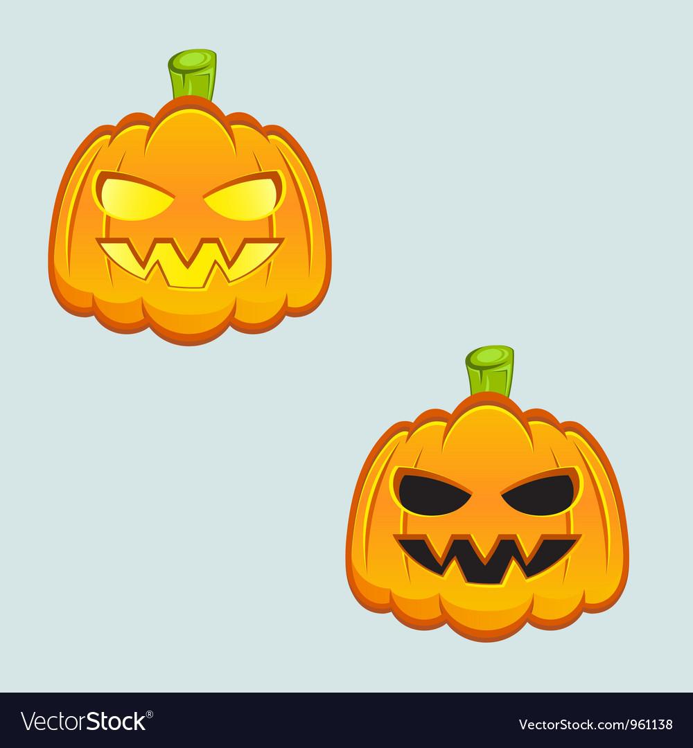 Carved pumpkins vector