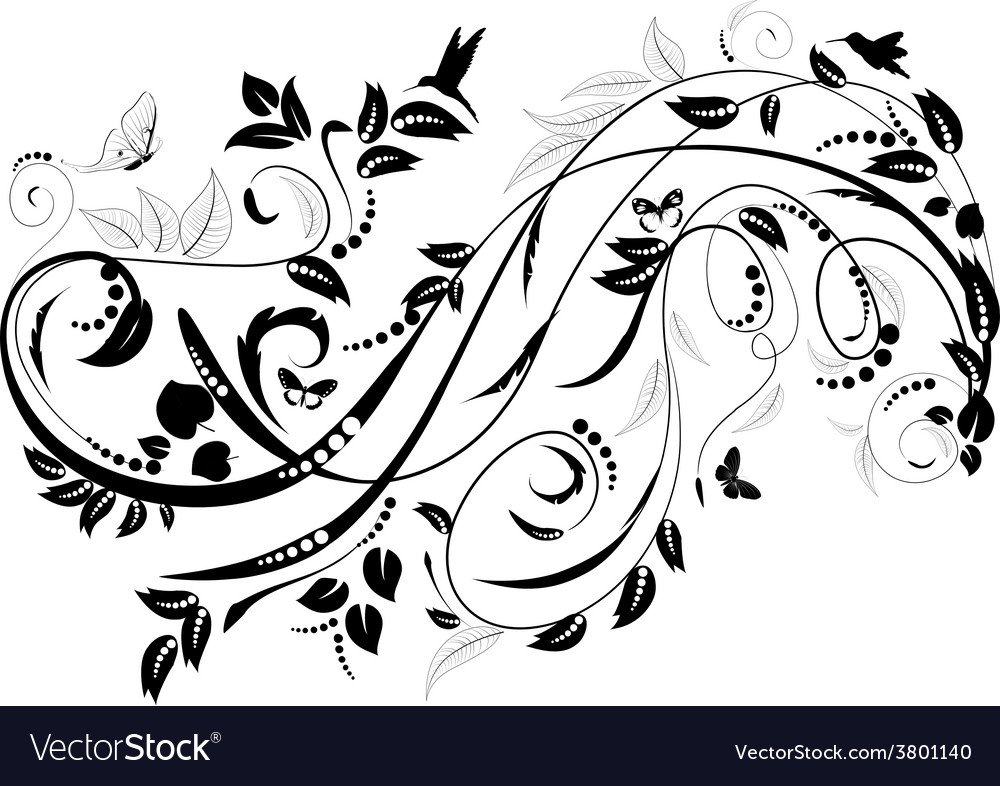 Plant ornament for your design vector