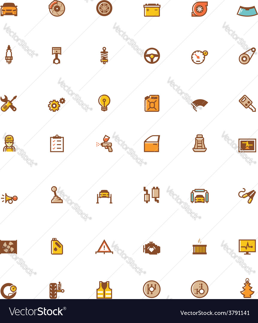 Car service related icons vector