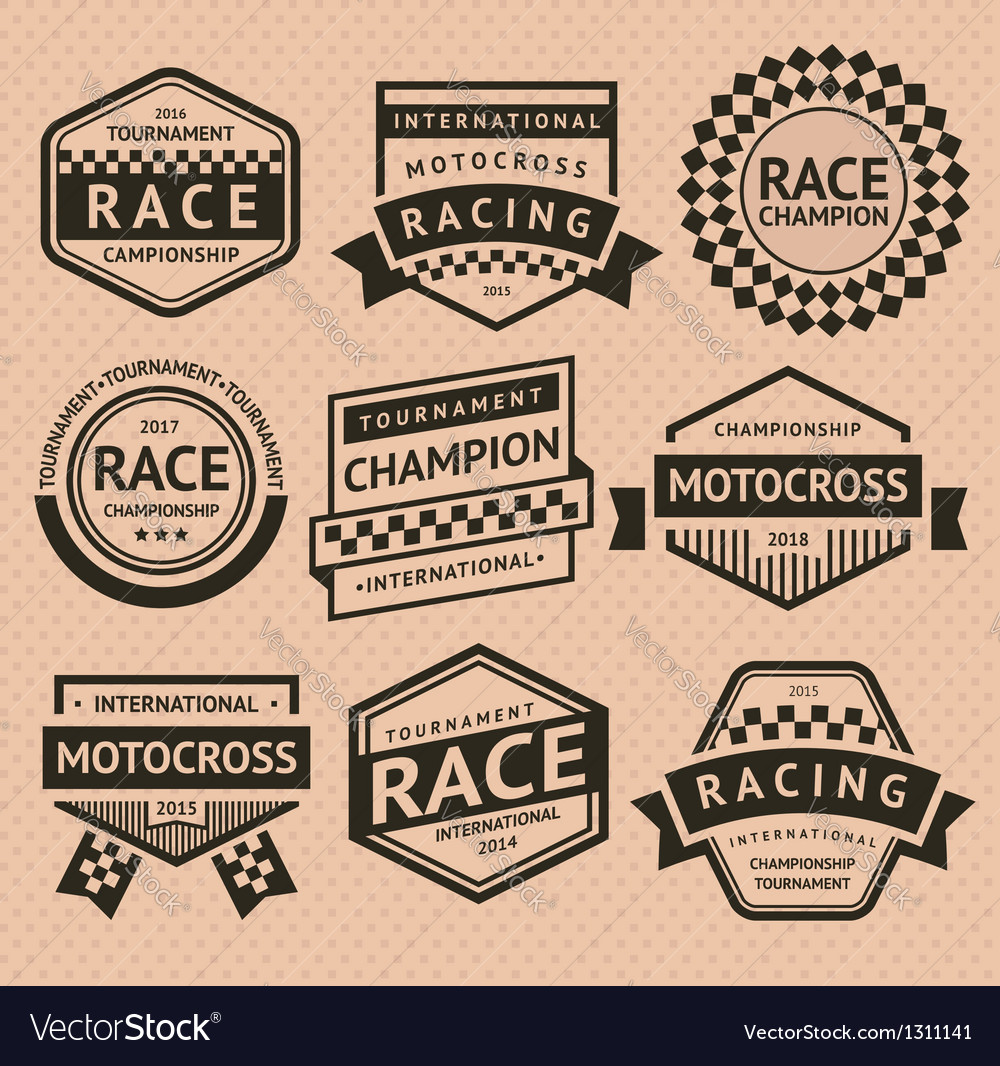 Racing insignia vector