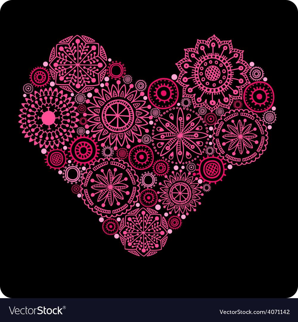 Serce z kvitiv 2 vector