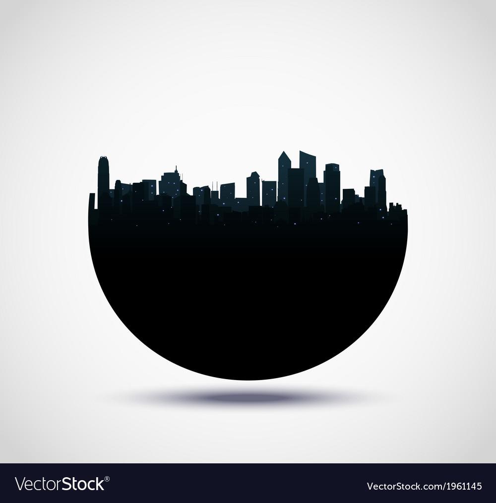 Real estate buildings design vector