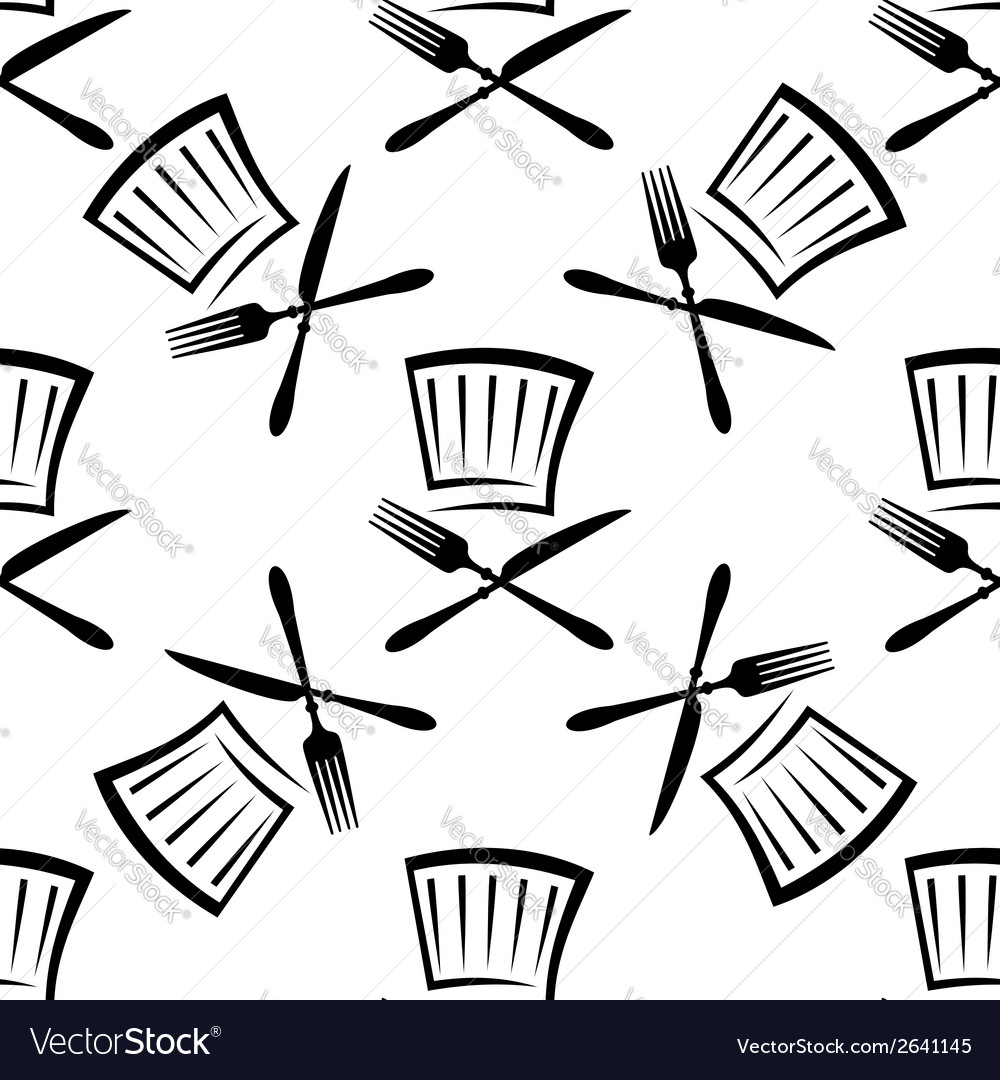 Seamless food and beverage background pattern vector