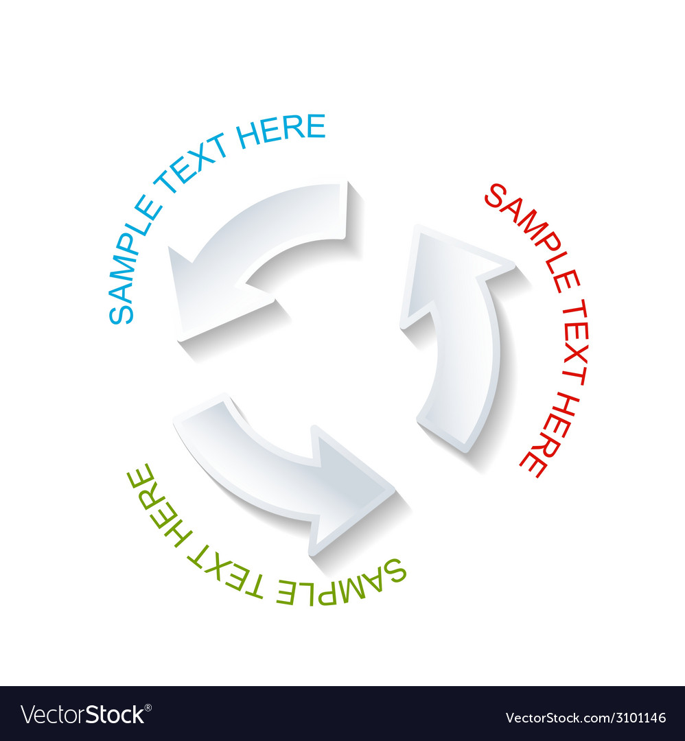 Paper circle arrow shape vector