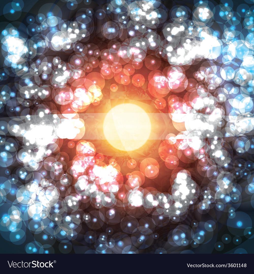 Star born light shine space burning universe vector